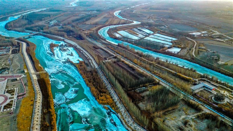 ?新疆:開都河冰化開河 為春天剪彩