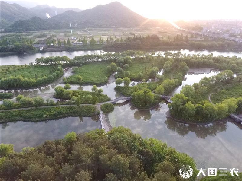 浙江武义:生态湿地美景如画