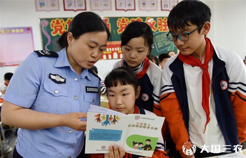 安徽省当涂县:送法进校园 法治伴成长
