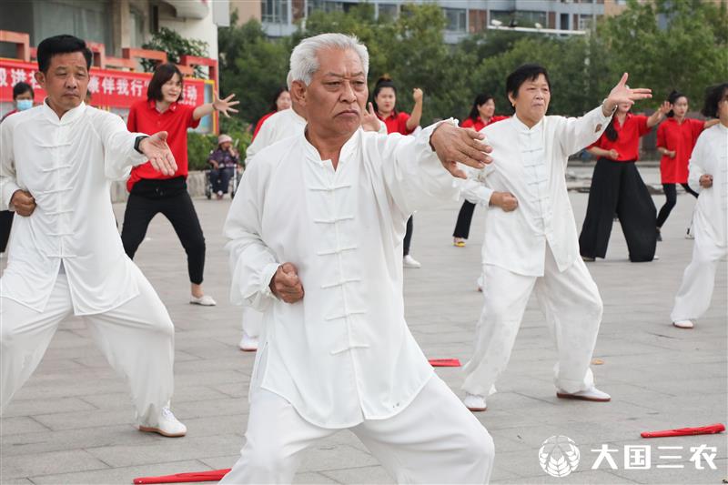 山東東營:快樂太極進社區 帶領居民動起來