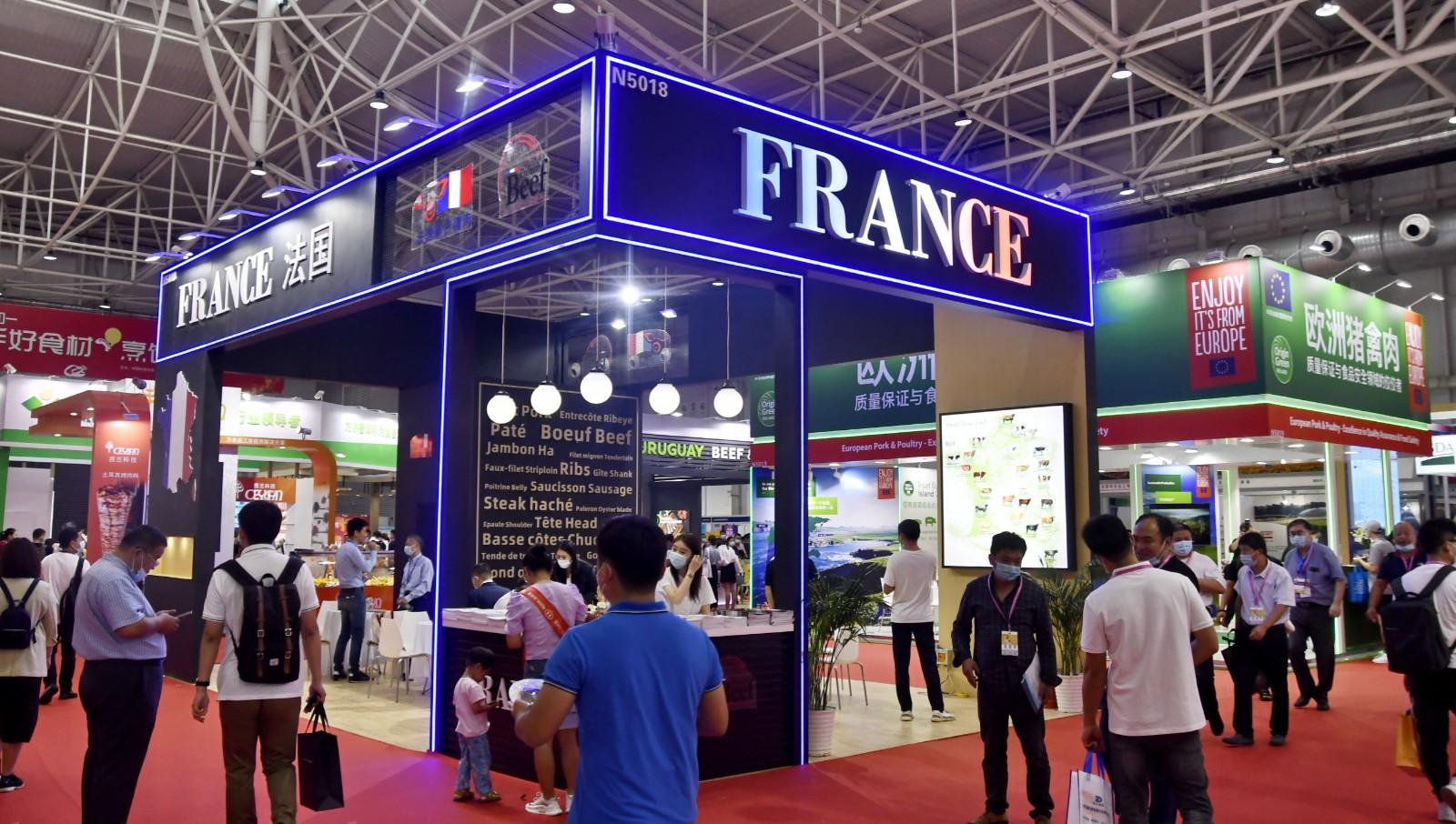9.来自法国等国家的肉类展区。.jpg