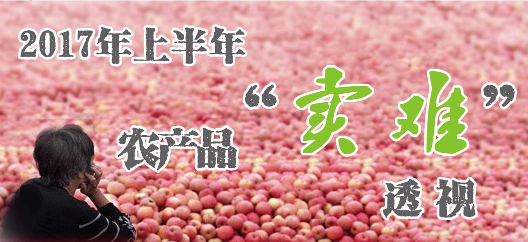 """2017年上半年農產品""""賣難""""透視"""