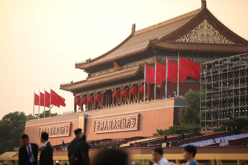 天安門前金水橋視角帶你重溫70周年國慶大聯歡