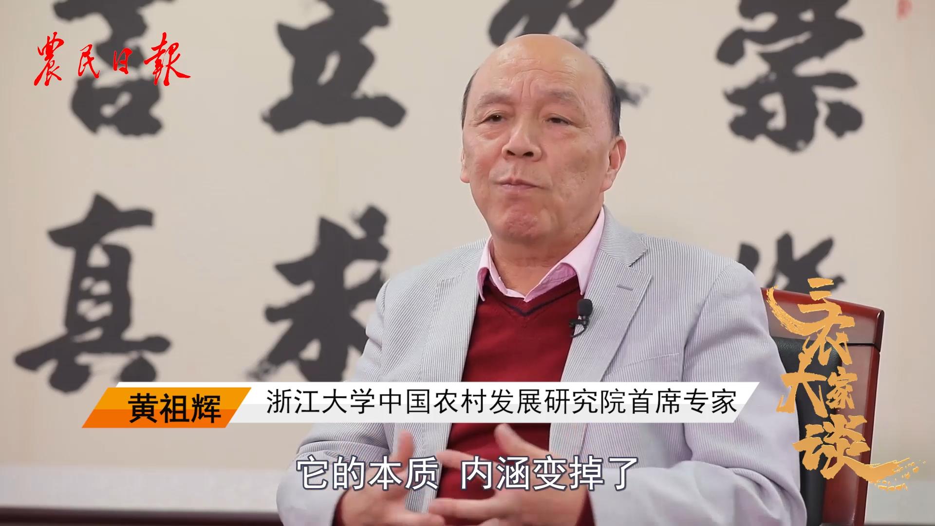 【三农大家谈】第2季第6期:黄祖辉(中)