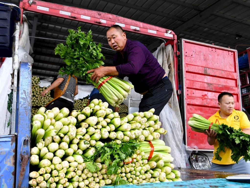 河南郑州农产品供应充足