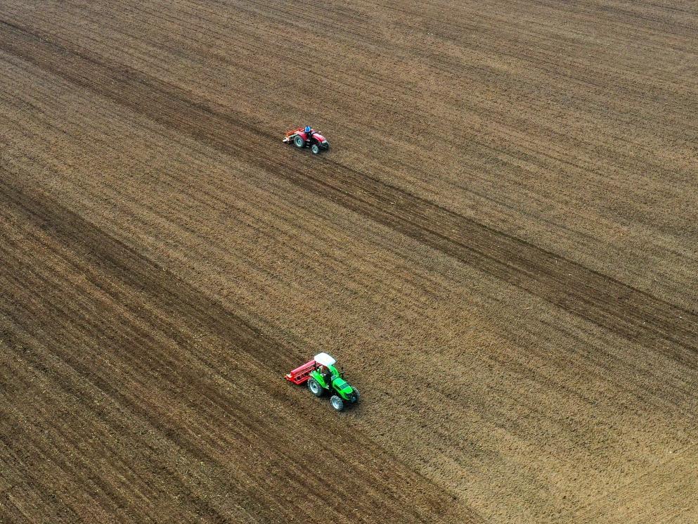 安徽淮北:小麦播种忙